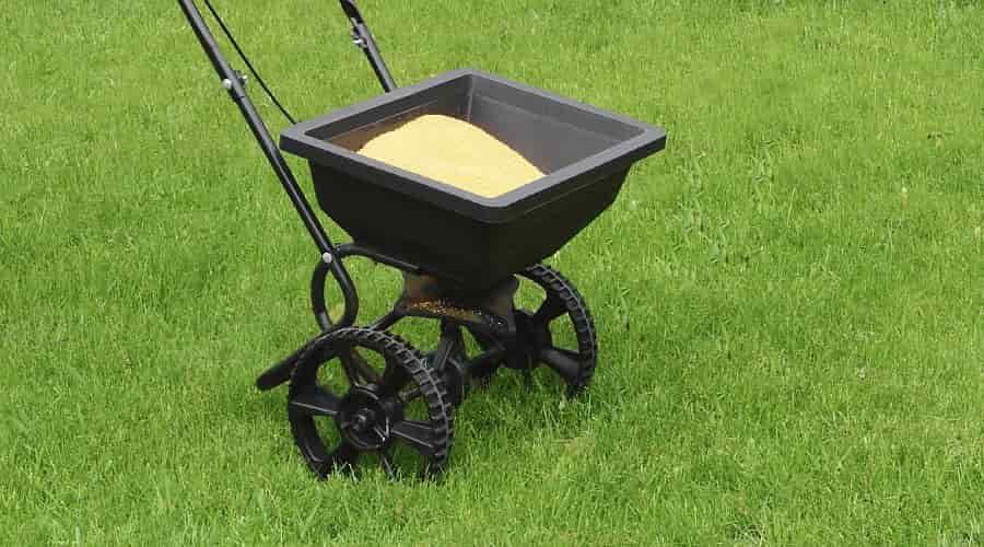 Fertilizer Spreader for Winter Lawn Fertilizing
