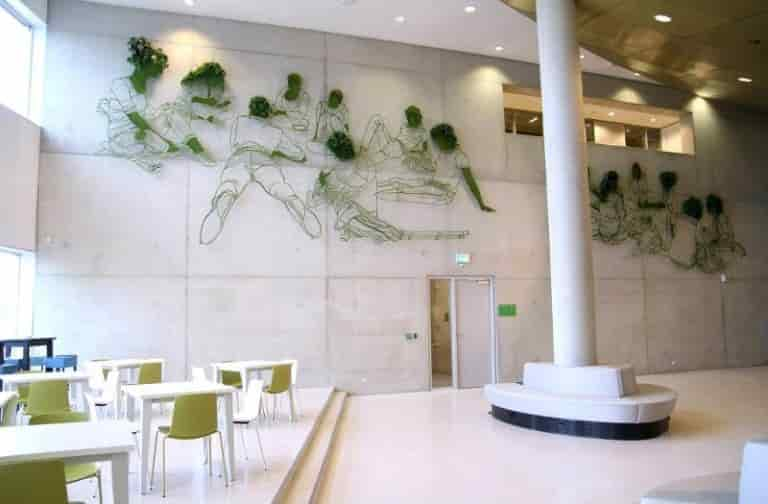 Frank Plant - The 'Grow' Sculpture at the Interior of the Wageningen University