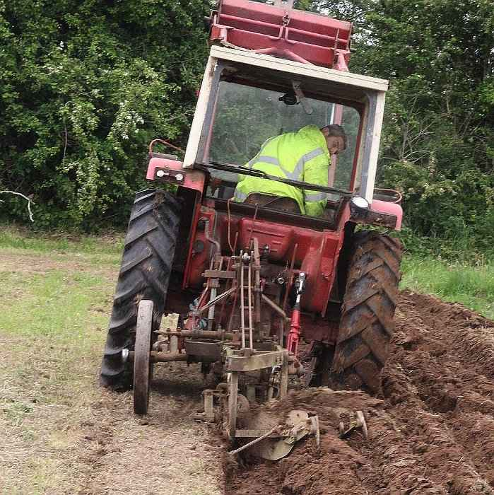 Plough or Plow a Field Before Bare Root Trees Planting