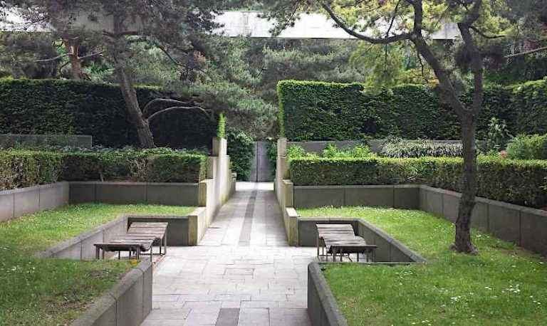 Enclosed Space in the Black Garden of Parc Andre Citroen
