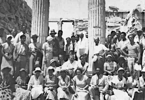 Participants of the 4th CIAM in the Acropolis of Athens