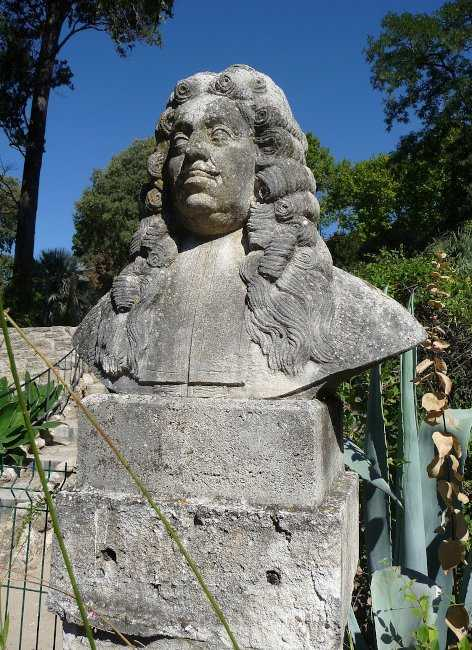 Pierre Magnol's Statue in the Montpellier Botanical Garden