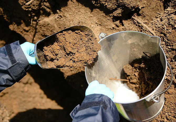 Collect Representative Soil Subsamples with a Shovel